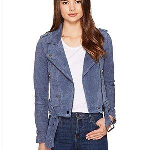 Slate Blue Blank NYC Suede Moto Jacket